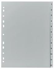 herlitz Kunststoff-Register A4 (Zahlen - 31tlg. - grau)