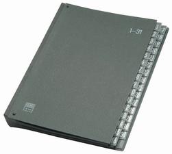 ELBA Pultordner Hartpappe A4 - 1-31 (32 Fächer - schwarz)