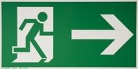 smartboxpro Hinweisschild Rettungsweg (rechts - gerade)