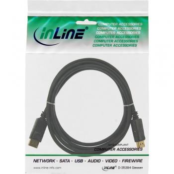 InLine DisplayPort Kabel vergoldet (2m - schwarz)