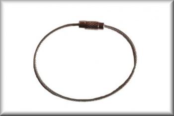 Drahtseil Schlüsselkette (15cm - Edelstahl)