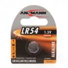 ANSMANN Knopfzelle Alkaline LR54 (1,5V - 1er-Blister)