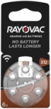 "RAYOVAC Hörgeräte Knopfzelle ""Acoustic"" HA312/V312 (PR41)"