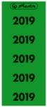herlitz Ordner-Inhaltsschild Jahreszahl 2019 (grün)