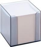folia Zettelbox Kunststoff (Rauchglas - Füllung: weiß)
