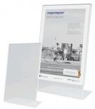 magnetoplan Tischaufsteller Acryl DIN A6 (hoch - schräg)