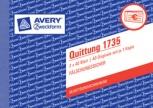 AVERY Zweckform Formularbuch 1736 (Quittung - A6 - quer)