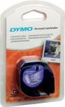 Dymo Schriftbandkassette Kunststoff (12mm - schwarz/weiß)