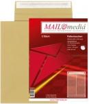 MAILmedia Faltenversandtasche mit Haftklebestreifen (B4 - braun)