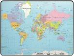 DURABLE Schreibunterlage Kunststoff (Motiv: Weltkarte)