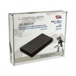 """LC-Power Gehäuse LC-25U3-C1 für SATA-HDD & SSD (2,5"""" - USB 3.1 - schwarz)"""