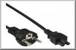InLine Netzkabel für Notebook 3pol Kupplung (schwarz - 1,8m)