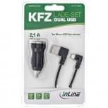 InLine USB DUAL+ KFZ-Ladeset (12/24VDC - schwarz)