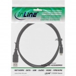 InLine USB 2.0 Kabel USB-A St an Micro-B St (schwarz - 1m)