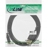 InLine USB 2.0 Flachkabel USB-A St an Micro-B St (schwarz - 3m)
