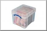 Really Useful Box Aufbewahrungsbox (35l XL - transparent)